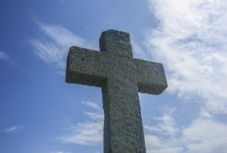 Croce di pietra nell'isola di Sardegna, Italia Archivio Fotografico - 83598619
