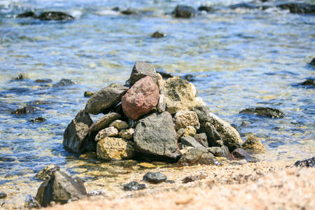 Rounded Stones on the beach