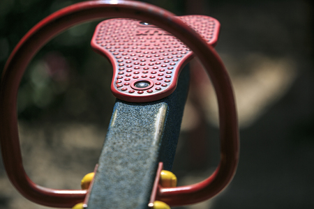 chain swing ride: Play ground in a park of spain Stock Photo