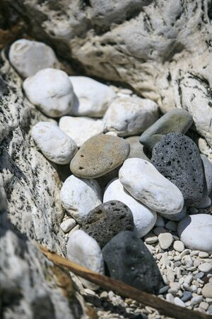 roundish: Rounded Stones on the beach