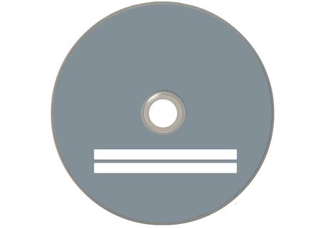 isolated grey compact disc Stock Photo