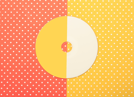 Compact disk CD  with colorful topped background
