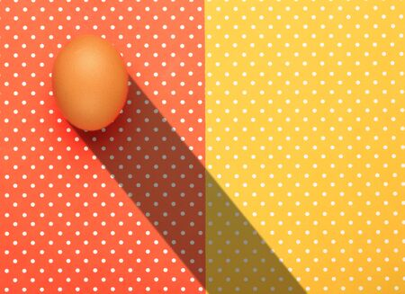 Eggs with colorful topped background