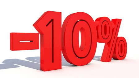 3d rendering percentage discount number Stock Photo