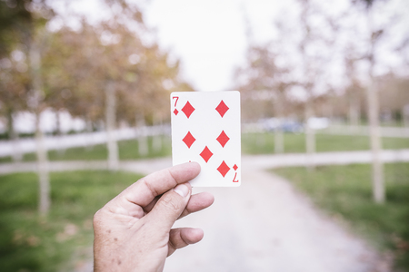 clubs diamonds: Playing cards in the street