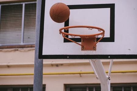 Street basketball court