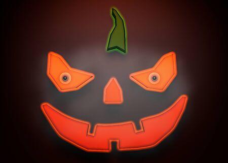 3d rendering pumpkin for halloween