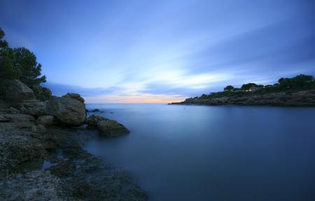 Mediterranean coast in Tarragona . Spain