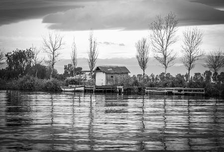 Delta del Ebro ,Tarragona landscape. River mouth