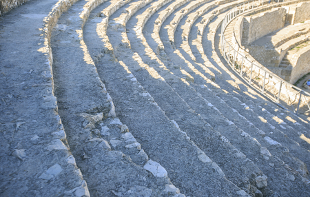 Amphitheater detail sited in  Tarragona, Spain