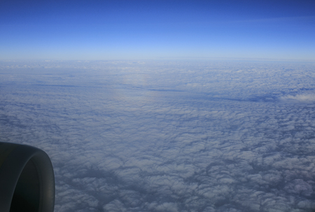 Clouds view from an airplane