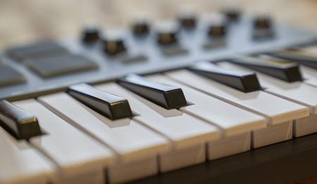 electronic piano keyboard Foto de archivo