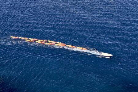 Kayaks in Dubrovnik port . Europe, Croatia
