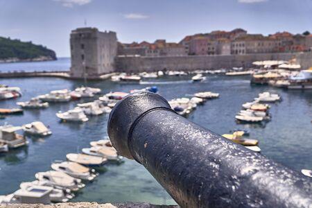 Panorama Dubrovnik port . Europe, Croatia
