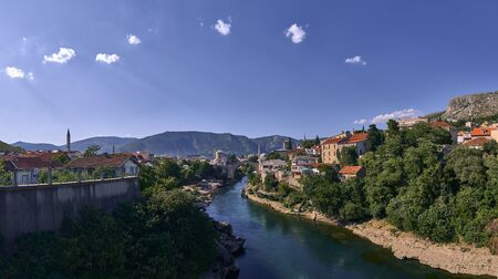 Panoramic view from Mostar. Bosnia Imagens - 128589313