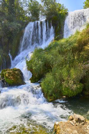 Kravica waterfalls. Bosnia Herzegobina Banco de Imagens - 128595100