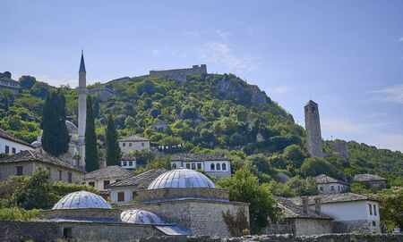 Mosque in Old town of Pocitelj. Bosnia Herzegobina