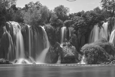 Kravica waterfalls. Bosnia Herzegobina Banco de Imagens - 128589494