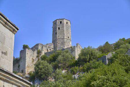 Old town of Pocitelj. Bosnia Herzegobina Imagens
