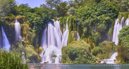 Kravica waterfalls. Bosnia Herzegobina Banco de Imagens - 128589521