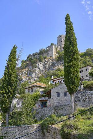 Old town of Pocitelj. Bosnia Herzegobina Stockfoto
