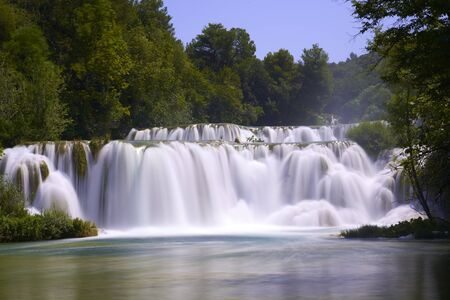 Krka waterfalls in Croatia . Europe Stock Photo
