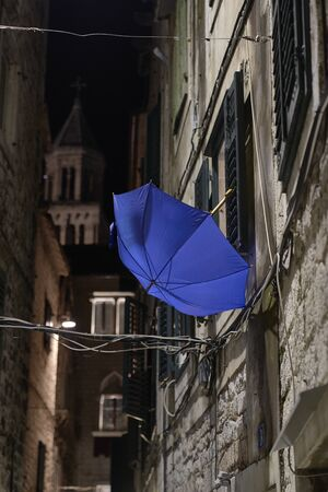 Streets of Split city at night. Croatia