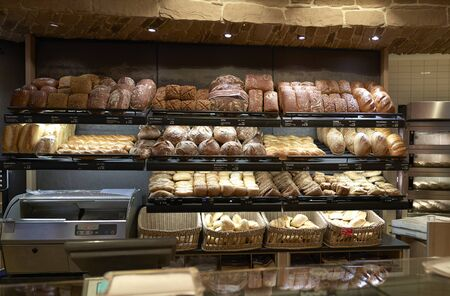 Bread baked in the bakery Banco de Imagens