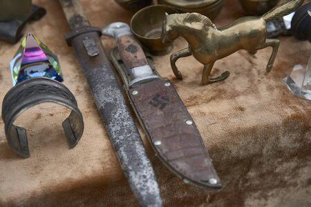 Group of German nazi military knife . World war