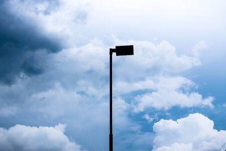 led lighting: Light pole in the center of the sky Stock Photo