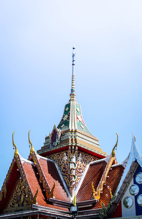 Pointed roof of the temple