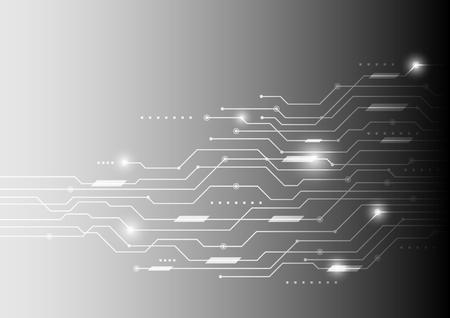 fondo di vettore concetto astratto di comunicazione di tecnologia