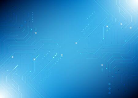 Vector abstract computer circuit High-tech technology background. Ilustração Vetorial