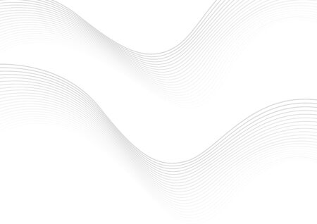Abstract wave lines white and gray background for elements in concept business presentation, Science, Technology. Vector Illustration.