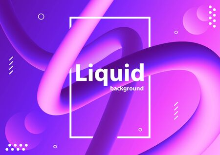 Liquid color background design. Vector Illustration.