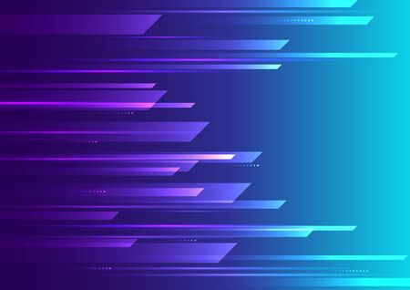 Speed motion futuristic purple and blue background.