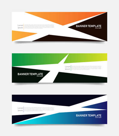 Set of abstract banners template.