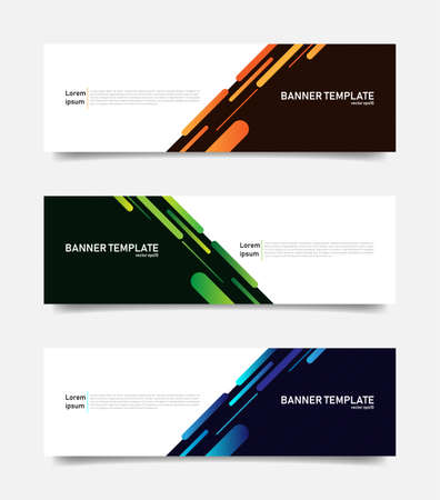 Abstract colorful banners template. Vector Иллюстрация