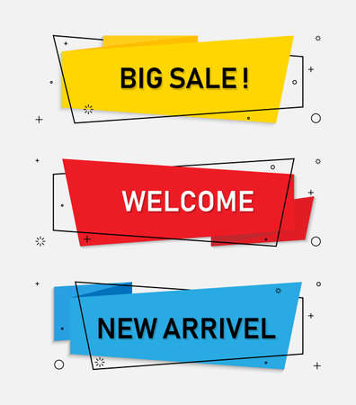 Origami style banner template design.