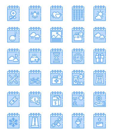 Calendar date icon for website, application, printing, document, poster design, etc. Иллюстрация
