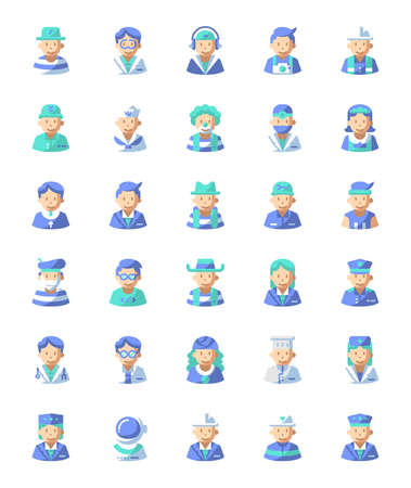 Professional avatars icon for website, application, printing, document, poster design, etc.