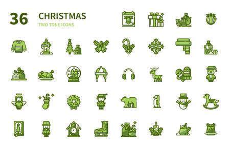 Christmas icon for website, application, printing, document, poster design, etc. Иллюстрация