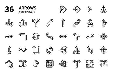 Arrows icons for website, application, printing, document, poster design, etc.