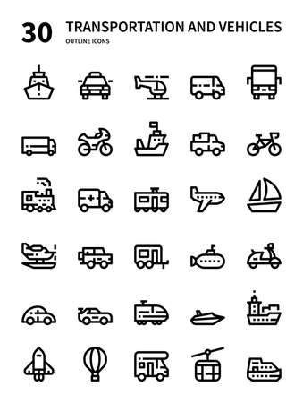 Transportation and Vehicles icon for website, application, printing, document, poster design, etc.