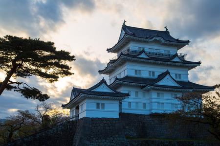odawara: Odawara Castle in the evening. Editorial