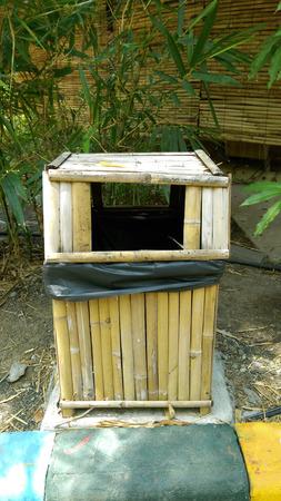 aggregates: bamboo bin in the garden.