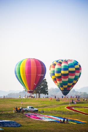 14th: THAILAND FEBRUARY 14, 2016:Singha Park Chiang Rai International Balloon Fiesta 2016 will take place between February 10th and 14th at Singha Park Chiang Rai. Editorial