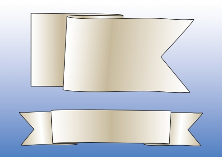 Mavi arka plan üzerinde iki eski moda afiş