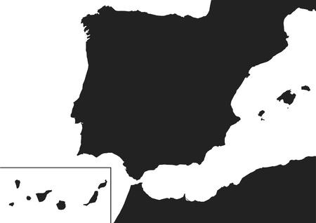 Kanarya Adaları ile İspanya Haritası