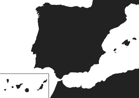 Map of Spain with Canary Islands